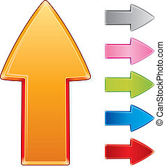 Beveled Arrows - Beveled design arrow signs