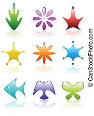 Beveled nature icons