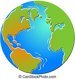 bevelled Globe - globe with bevelled edges