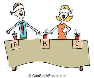 Beverage Blind Taste Test - An image of people taking a...