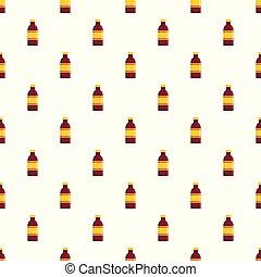 Beverage bottle pattern seamless vector