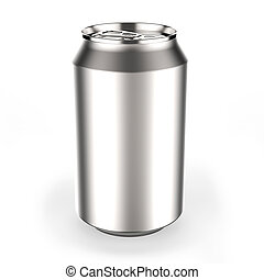 Beverage can - Aluminum beverage can on white background 3D...