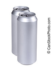 beverage can isolated macro