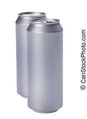 beverage can on white