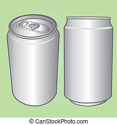 beverage can vector