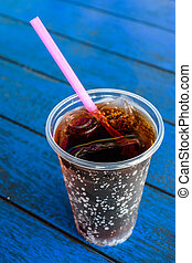 beverage Cola with straw