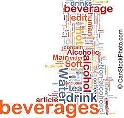 Beverage drink background concept - Background concept...