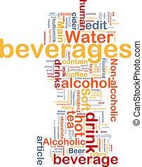 Beverage drink background concept