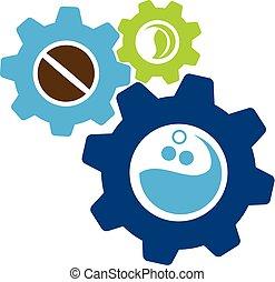 Beverage Gear Logo Design Template Vector