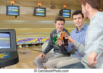 beverage in the bowling center