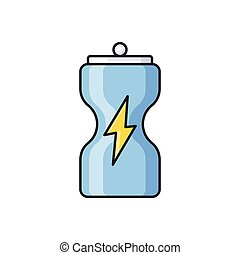 beverage line flat icon