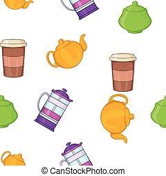 Beverage pattern, cartoon style