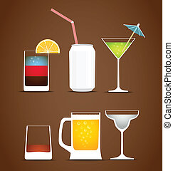 Beverages vector collection