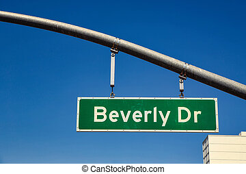 Beverly drive road sign in USA