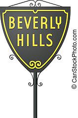 Beverly Hills sign - Vector illustration of Beverly Hills ...