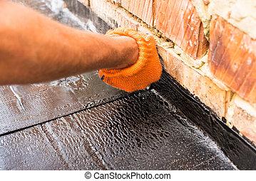 bevezetés, tekercs, waterproofing