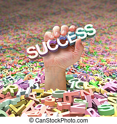 bevinding, hard, succes