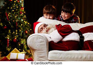 bevinding, kerstman, uit