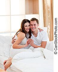 bevinding, paar, resultaten, test, romantische, zwangerschap, uit
