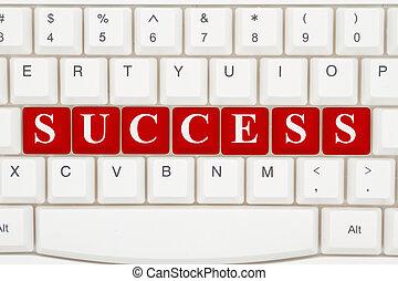bevinding, succes, op, het internet