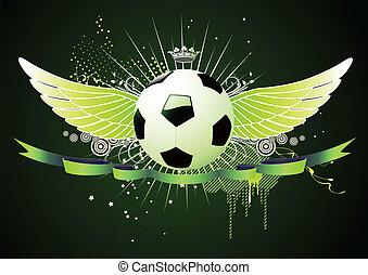 bevinget, emblems, fodbold