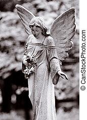 bevinget, engel