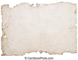 bevlekte, papier