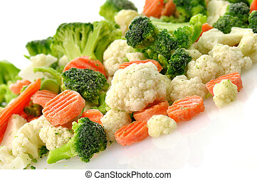 bevroren, groentes