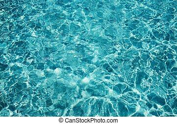 bewässern kleine wellen, in, a, sonniger tag