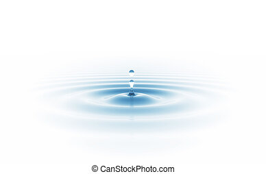 bewässern tropfen, freigestellt, weiß