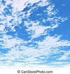bewölkt , blauer himmel