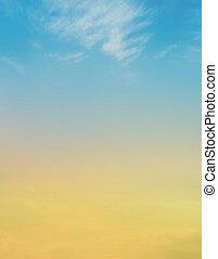 bewölkt , farbe, himmelsgewölbe
