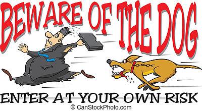 beware, de, a, cão