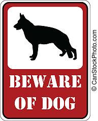 """Beware of dog"" sign - vector"