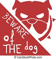 beware of the dog symbol