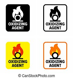 "Beware ""Oxidizing agent"" information sign"