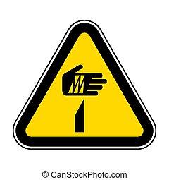 Beware Sharp Elements Symbol Isolate On White Background, Vector Illustration EPS.10
