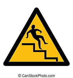 Beware Step Symbol Isolate On White Background, Vector ...