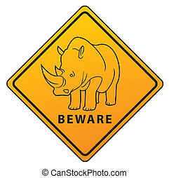 Beware Symbol Rhino