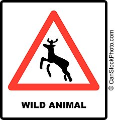 beware, veado, aviso, tráfego, cruzamento, signs.