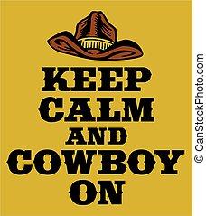 bewaren, kalm, cowboy