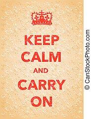 bewaren, kalm, poster
