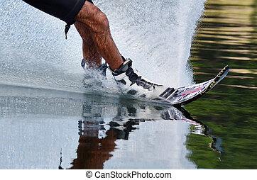 bewateer sporten, -, skien