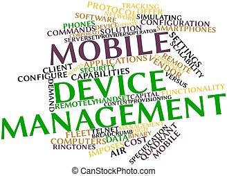 beweeglijk, apparaat, management