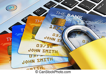 beweeglijk, bankwezen, veiligheid, concept