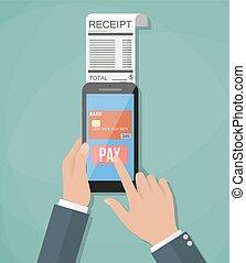 beweeglijk, payment., concept