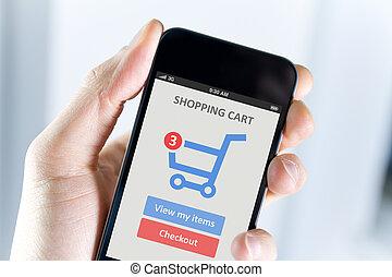 beweeglijk, shoppen