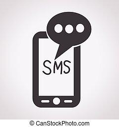 beweeglijk, tekst, sms, post, boodschap, pictogram