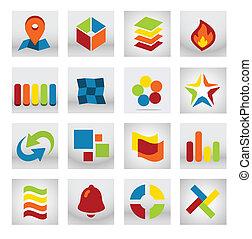 beweeglijk, toepassing, abstract, logo