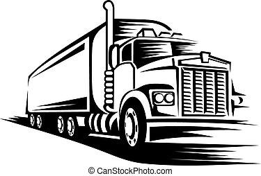 bewegende vrachtwagen